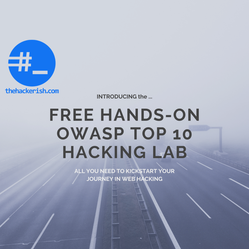 Kickstart your web hacking journey with this OWASP Top 10 lab.