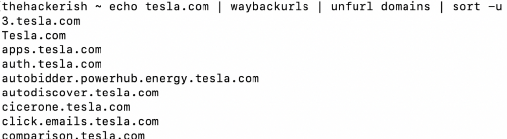 waybackurls and unfurl bug bounty tools can work together when you perform subdomain enumeration