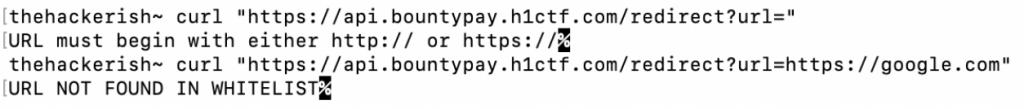 API errors